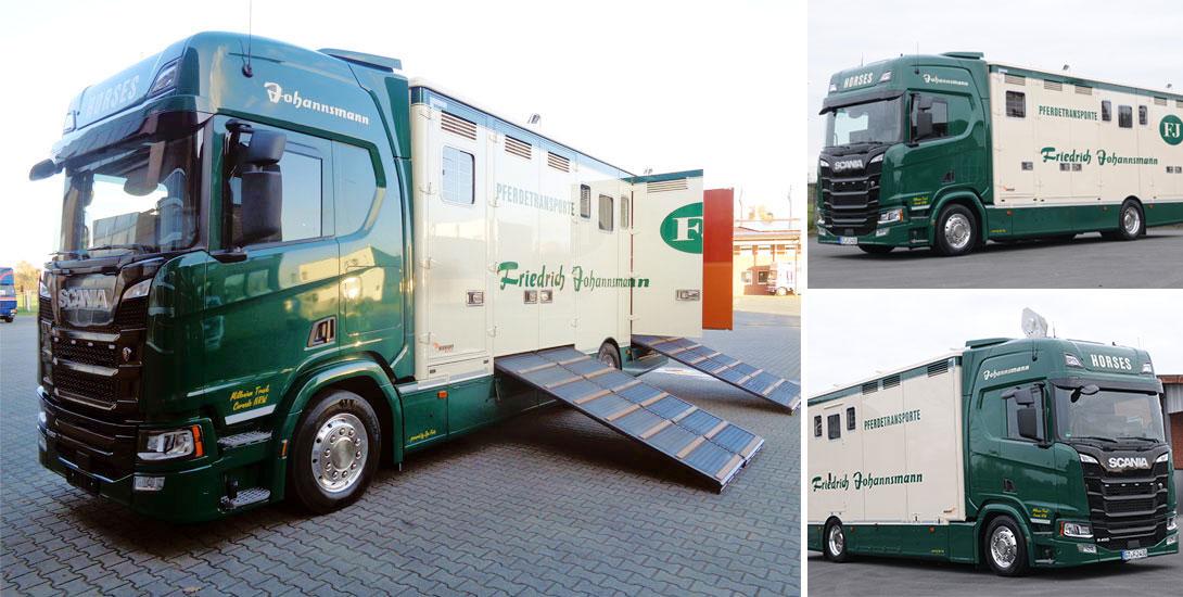 Horse transporter for 7 horses